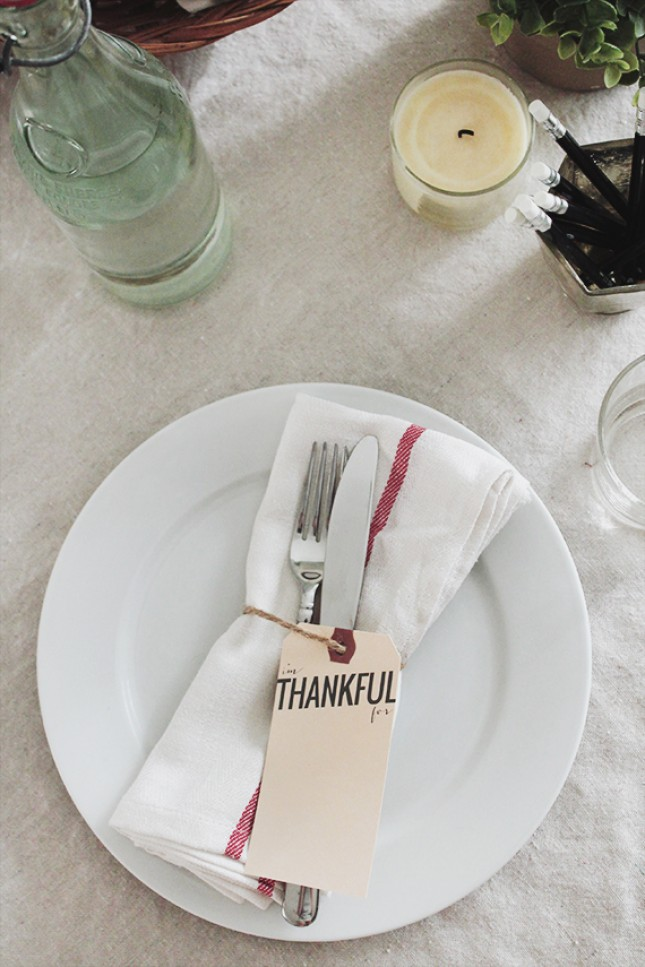 """I'm Thankful"" Place Cards"