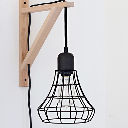 Converted Industrial Pendant Lights from Nalle's House