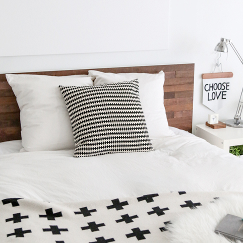 Wood Paneled Headboard Hack from Sugar & Cloth