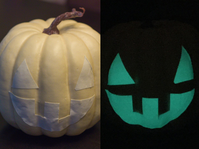 31 no carve pumpkin decorating ideas for Glow in the dark paint for real pumpkins