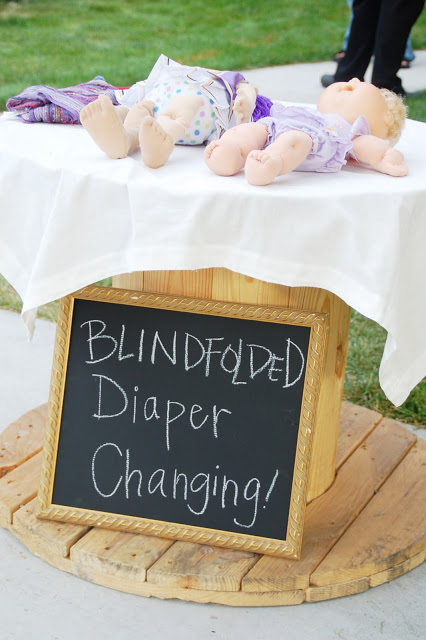 Blindfolded Diaper Changing Station