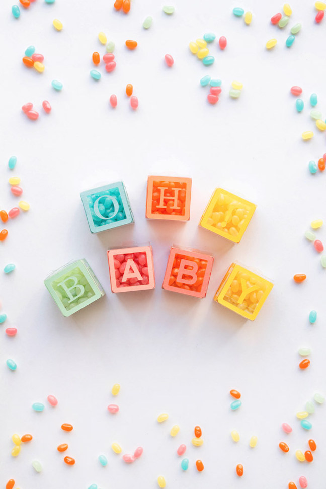 Baby Block Candy Favors