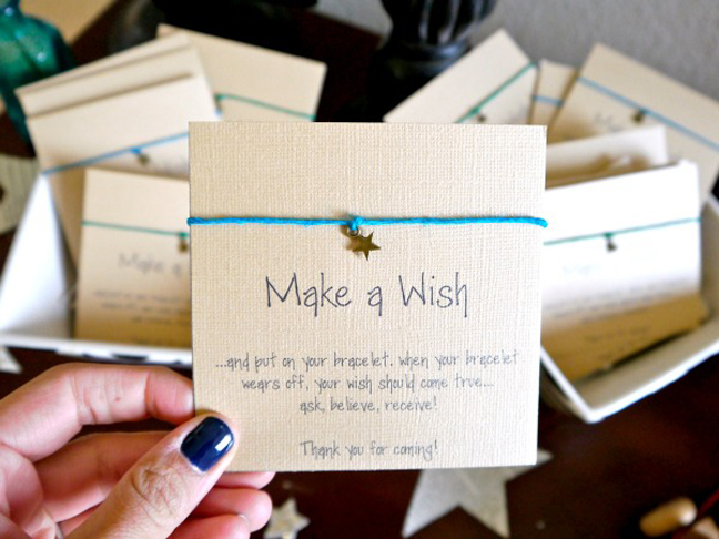 Baby shower favours people actually want mumtastic make a wish bracelet solutioingenieria Image collections