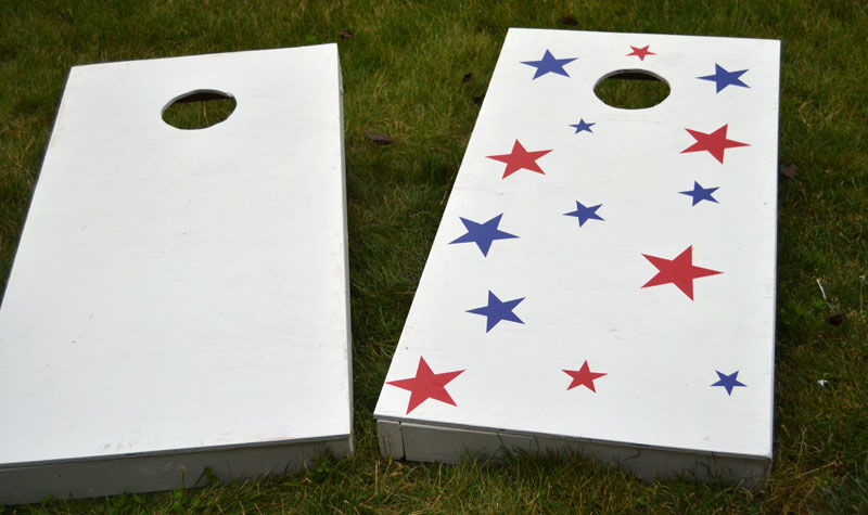 DIY Cornhole Game Board