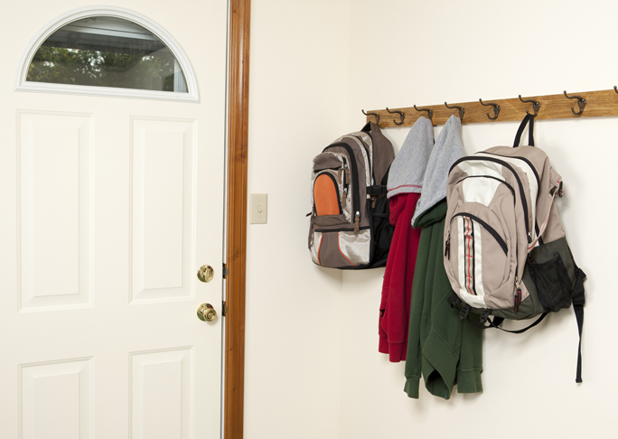 8. Create a Designated Area for School Bags