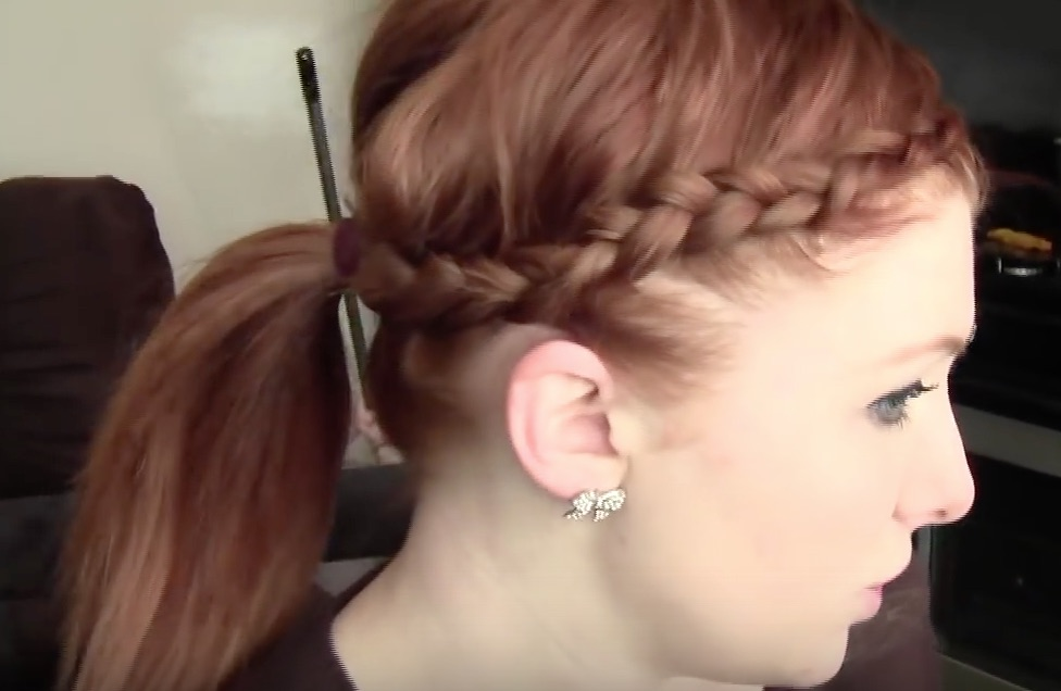 The Side-Braided Pony Updo