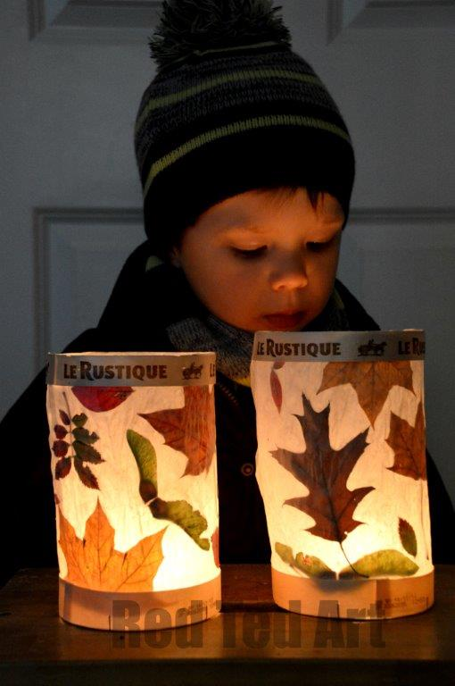 DIY Fall Leaf Lanterns
