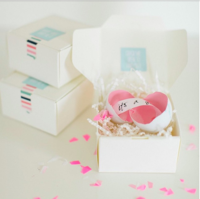 DIY Gender Reveal Egg Packages