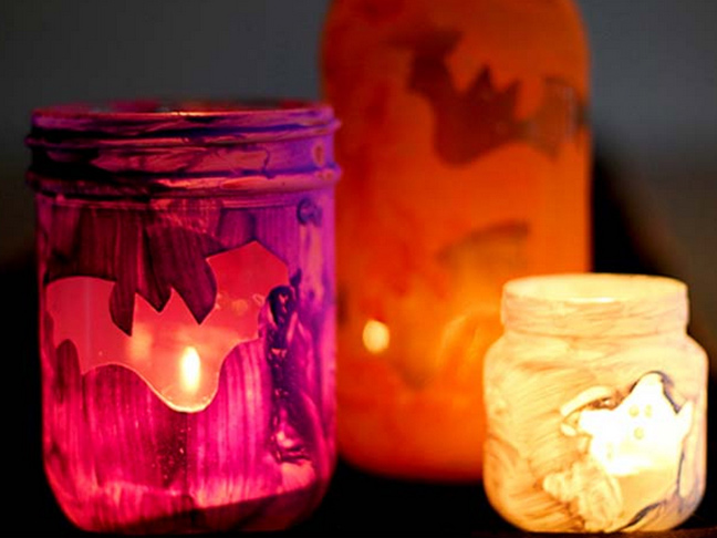 Painted Halloween Luminaries