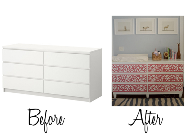 100 malm dresser painted add instant glam to your ikea furn