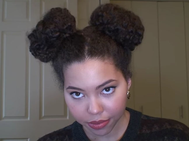 Curly Minnie Mouse Buns