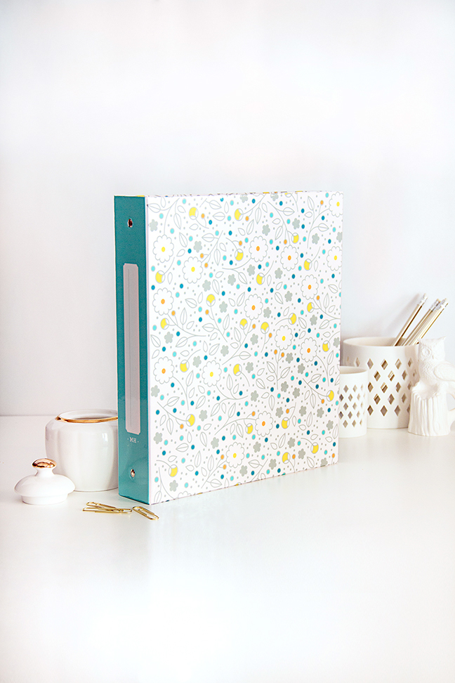PERSONALIZED Floral Patterned Binder - Spring Fling