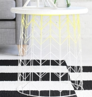 DIY Wire Side Table Basket