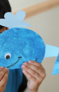 Paper Plate Whales