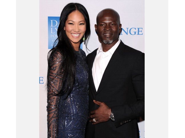 Kimora Lee Simmons & Djimon Hounsou