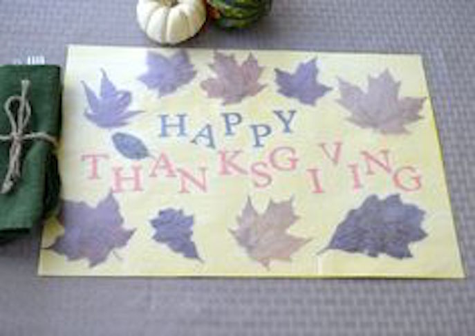 Pressed Leaf Placemats