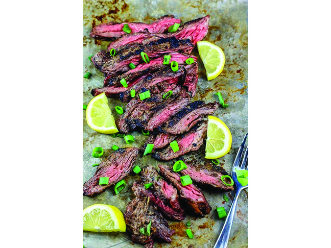 Garlic Grilled Flank Steak